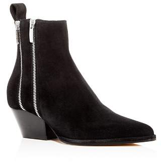 Sergio Rossi Women's Suede Low-Heel Booties