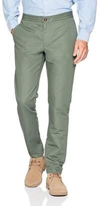 Original Penguin Men's Linen/Cotton Elastic Waist Beach Pant