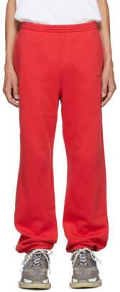Balenciaga Red Small Logo Lounge Pants