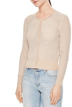 Sandro Andrey Textured Knit Cardigan $250 thestylecure.com