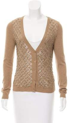 Philosophy di Alberta Ferretti Embellished Button-Up Cardigan