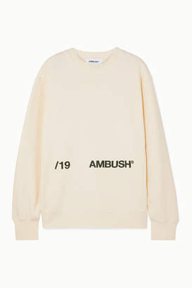 Ambush Printed Cotton-jersey Sweatshirt - White