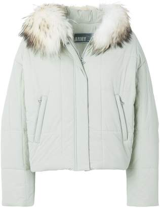 Yves Salomon Army hooded quilted jacket