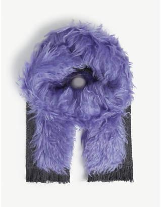 Prada Fuzzy wool scarf