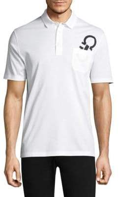 Salvatore Ferragamo Logo Cotton Polo