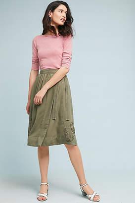 Maeve Embroidered Chino Skirt