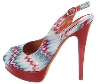 Missoni Chevron Slingback Sandals