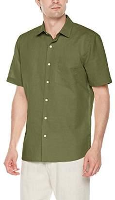 Isle Bay Linens Men's Standard Fit Short Sleeve Casual Shirt