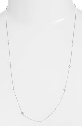 Women's Bony Levy Harlowe Long Diamond Station Necklace (Nordstrom Exclusive) $1,695 thestylecure.com