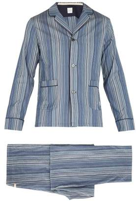 Paul Smith Striped Cotton Pyjama Set - Mens - Blue