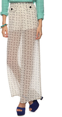 Forever 21 exclusive design Sheer Star Anchor Palazzo Pants