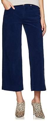 Care Label Women's Cotton Corduroy Crop Wide-Leg Trousers