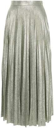 Emilia Wickstead metallic pleated skirt