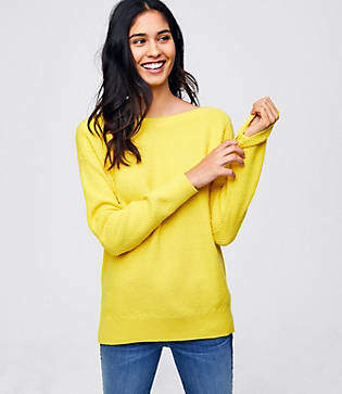 LOFT Textured Boatneck Sweater