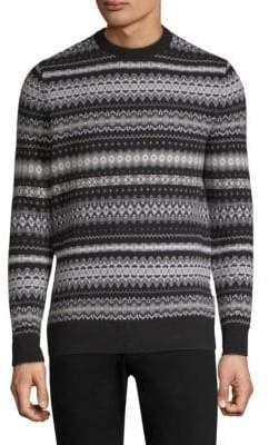 Barbour Case Fairisle Print Wool Sweater