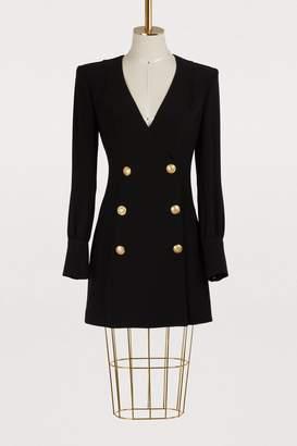 Balmain Crepe mini dress