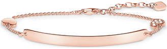 Thomas Sabo Love Bridge 18ct rose gold-plated sterling silver chain bracelet