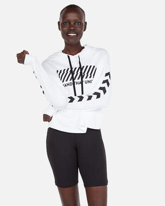 Express Brand That Unites Cropped Hoodie