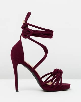 Missguided Knotted Front Platform Heels