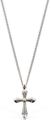 Emanuele Bicocchi Cross Sterling Silver Necklace