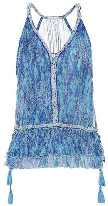 Poupette St Barth Bety printed silk top