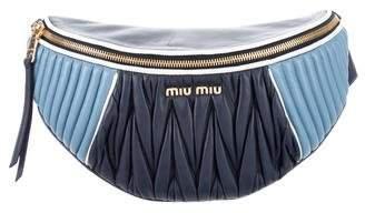 Miu Miu Quilted Matelassé Waist Bag