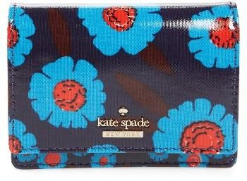 Kate SpadeWomen's Kate Spade New York Cameron Street Floral - Beca Wallet - Blue