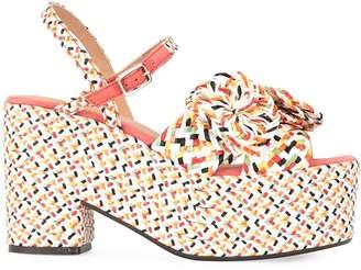 Castaner ribbon platform sandals
