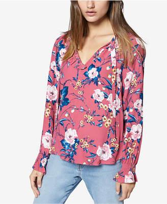 Sanctuary Floral-Print Ruffled Shirt