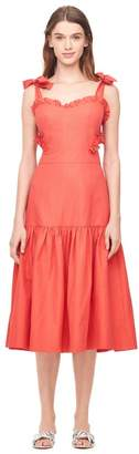 Rebecca Taylor Crisp Cotton Cut-Out Midi Dress
