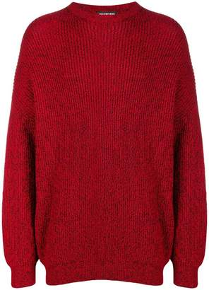 Balenciaga melange oversized jumper