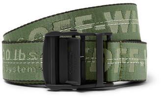 Off-White Off White 3.5cm Green Industrial Webbing Belt - Men - Green