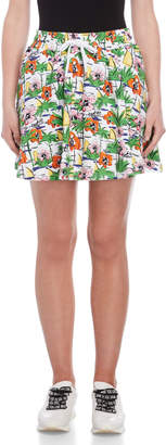 Love Moschino Printed Drawstring Skirt