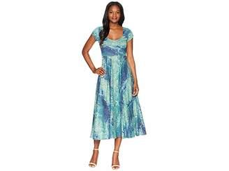 Chaps Printed Jersey Dress Women's Dress