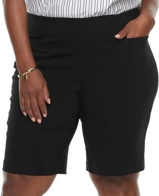 Dana Buchman Plus Size Pull-On Bermuda Shorts