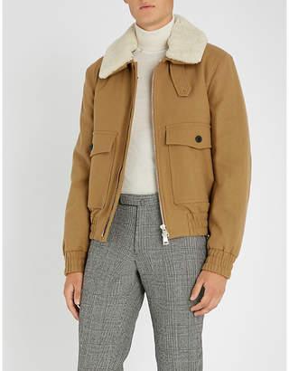 Ami Alexandre Mattiussi Shearling collar wool-blend jacket