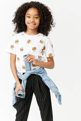 Forever 21 Girls Hamburger Graphic Print Tee (Kids)