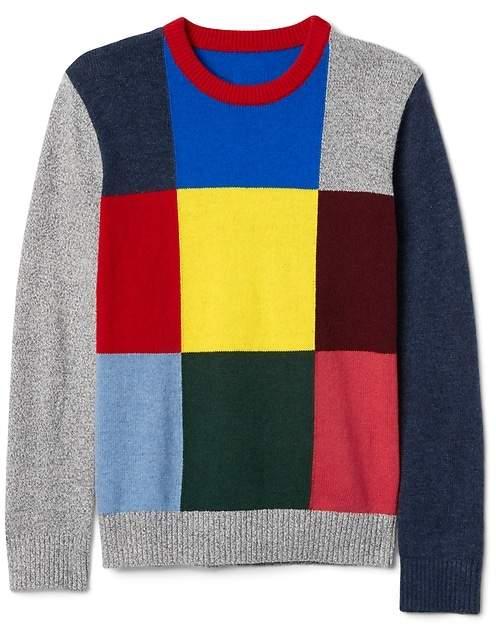 Crazy block sweater