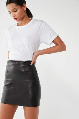 Urban Renewal Vintage High-Rise Leather Mini Skirt