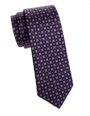 Saks Fifth Avenue Micro Neat Graphic Silk Tie