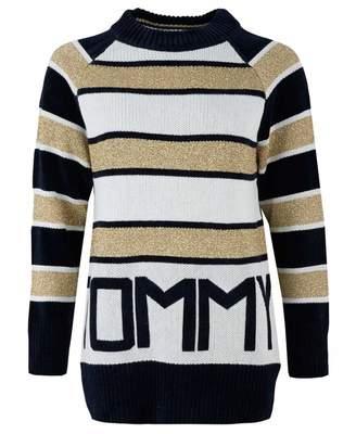Tommy Hilfiger Icon Tamarah Striped Logo Knit