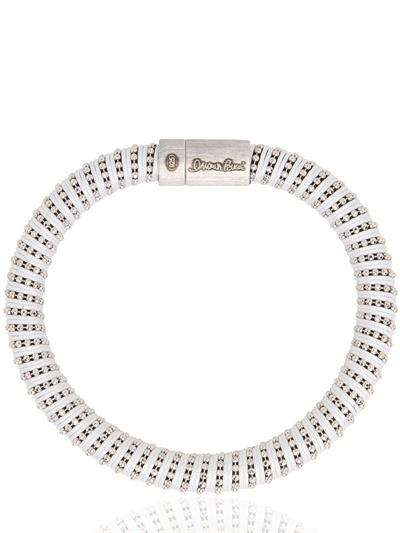 Carolina Bucci Twister Silk And Silver Bracelet
