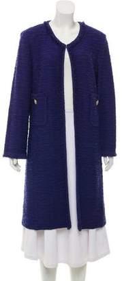 St. John Collarless Tweed Jacket
