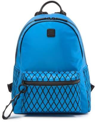 MCM Limonta Davis Rombi Tumbler Backpack Nylon Munich Blue