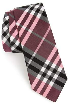 Burberry Manston Check Cotton & Silk Blend Tie