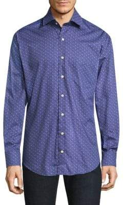 Peter Millar Printed Cotton Button-Down Shirt