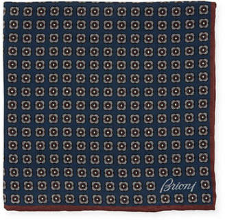 Brioni Men's Woven Floral Pocket Square