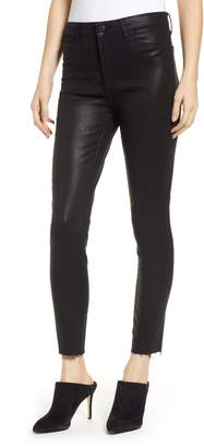 Articles of Society Heather Coated High Waist Skinny Jeans