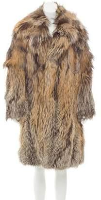 Ungaro Silver Fox Fur Coat w/ Tags