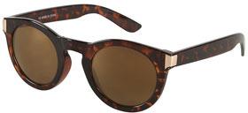 Round Metal Trim Sunglasses